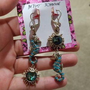 Betsey Johnson Seahorse Earrings
